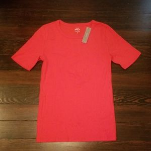 NWT JCrew Bright Red Perfect Fit T-shirt
